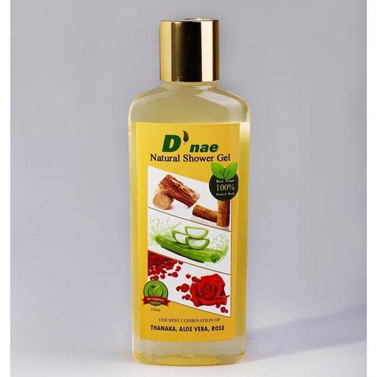 D'nae Natural Shower Gel (Thanaka,Aloe Vera,Rose) 195ml