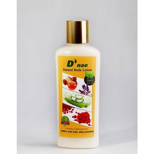 Natural Body Lotion (Honey,Aloe Vera,Rose,Lavender) 195ml