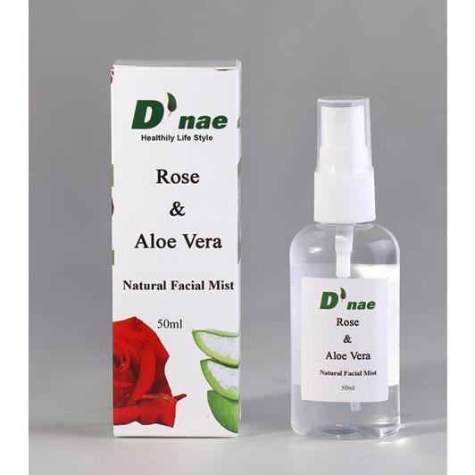 Natural Facial Mist (Rose,Aloe Vera) 50ml