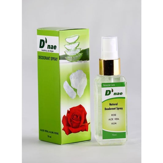 Natural Deodorant Spray (Aloe Vera,Rose,Alum) 60ml
