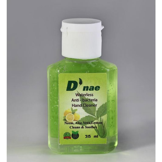D'nae Waterless Anti Bacterial Hand Cleaner (Neem,Aloe Vera,Lemon) 35ml