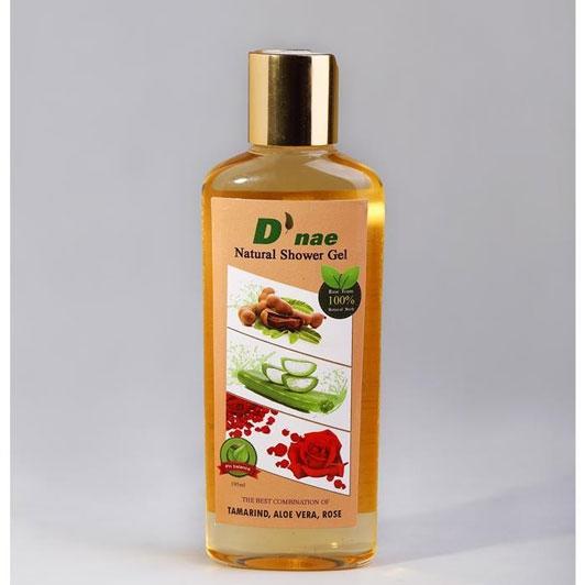 D'nae Natural Shower Gel (Tamarind,Aloe Vera,Rose) 195 ml