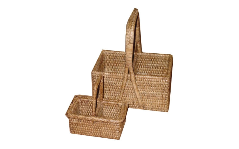 Rattan napkin caddy